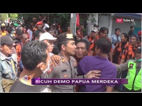 Ricuh! Demo Papua Merdeka di Surabaya Dihadang Polisi - iNews Sore 01/12