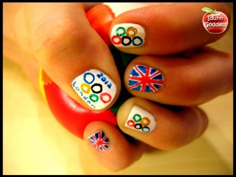 Olympic Games 2012 Nail Art With Gel Pens
