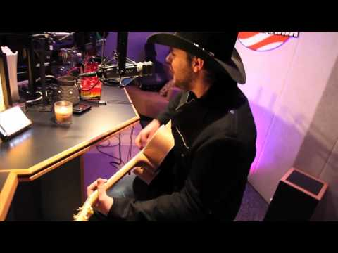 Chris Young singing THE MAN I WANT TO BE in our studio