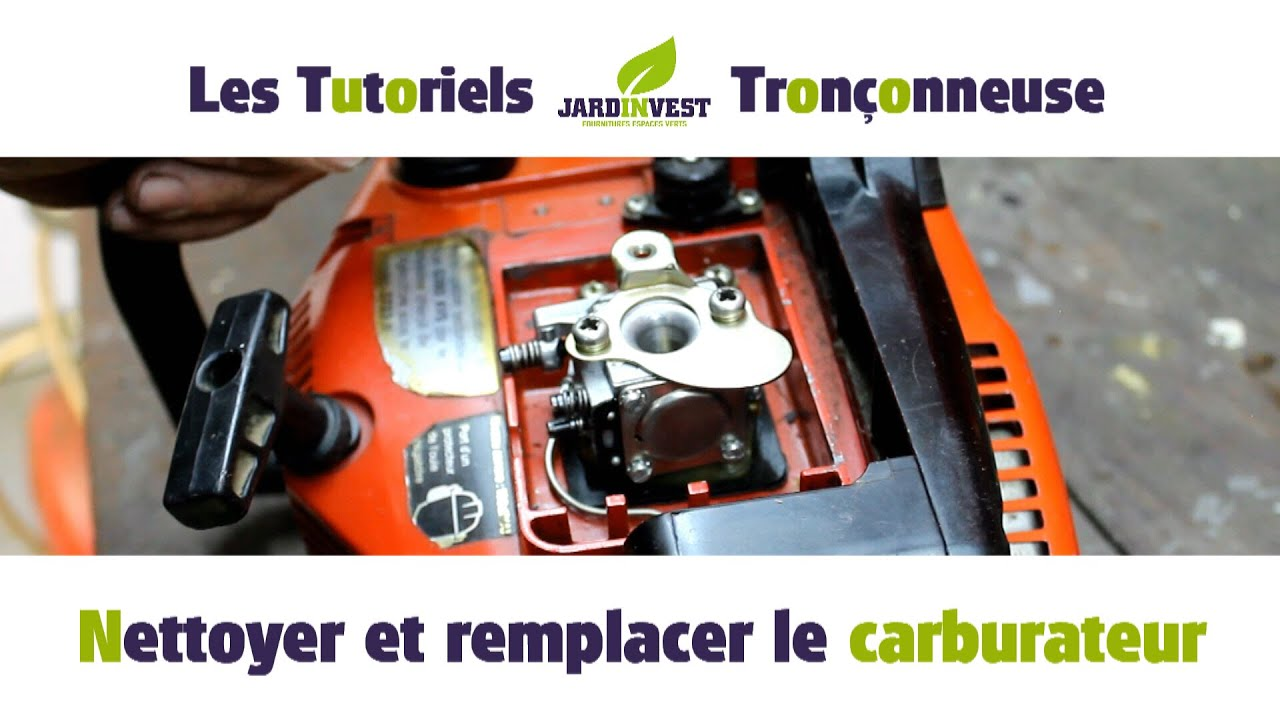 tutoriel tron onneuse n 10 nettoyer et remplacer le carburateur de ma tronconneuse youtube. Black Bedroom Furniture Sets. Home Design Ideas