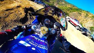 This was a BAD IDEA! Sportbike Hillclimb - FAIL