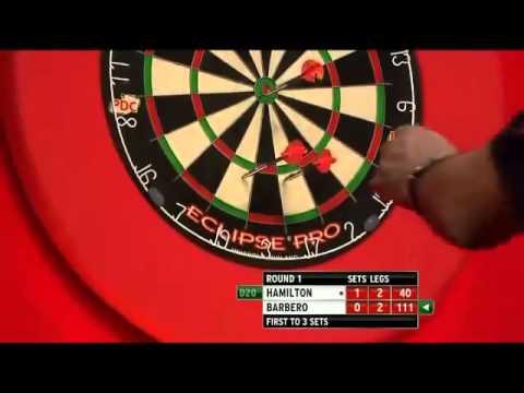Andy Hamilton vs Julio Barbero   PDC World Darts Championships 2014 First Round