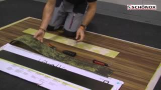 Detail aplikace opravy podlahy iFLOOR