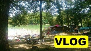 VLOG - Baignade à l'étang de neuf fond à vergt (Dordogne) - Juillet 2018