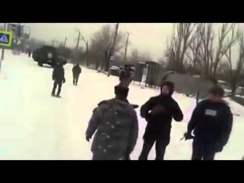 Ukraine war News Today 28Jan.2015. Road cyborgs from Donetsk airport to the position.