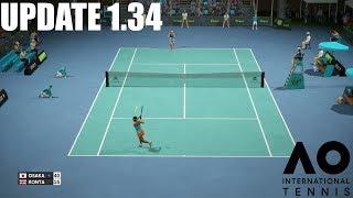 Naomi Osaka vs Johanna Konta - UPDATE 1.34 - AO International Tennis - Gameplay