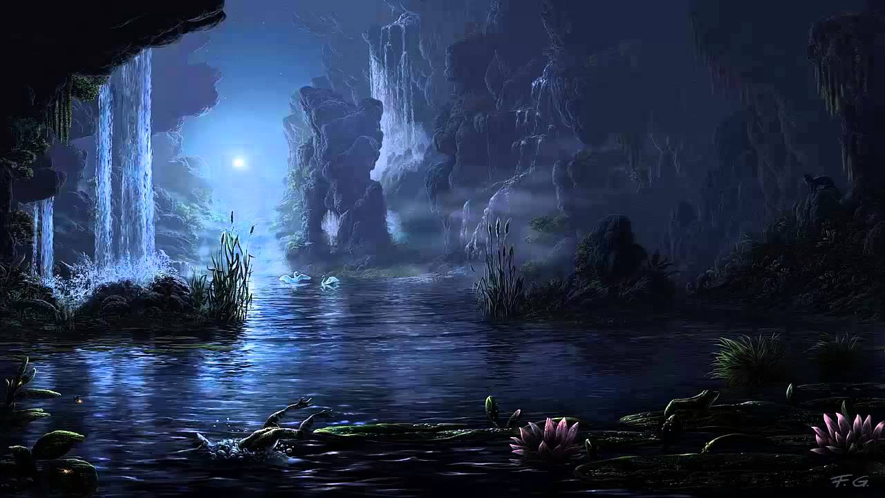 The Pond At Night Art Soundscapes Sleep Sounds Youtube