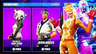 "NEW ""P.A.N.D.A Team Leader + Sushi Master"" SKINS in Fortnite! (NEW Fortnite Skins GAMEPLAY)"