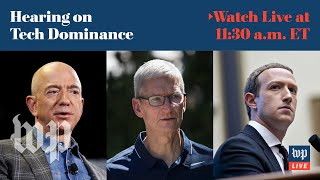 Tech CEOs testify at House hearing on Facebook, Google, Apple and Amazon | 7/27 (FULL LIVE STREAM)