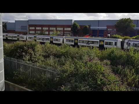 Trains outside of Stevenage