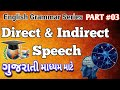English Grammar Series in Gujarati   Part 03   Direct Indirect Speech   Std 10 English