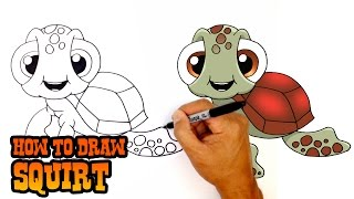 How to Draw Squirt | Finding Dory