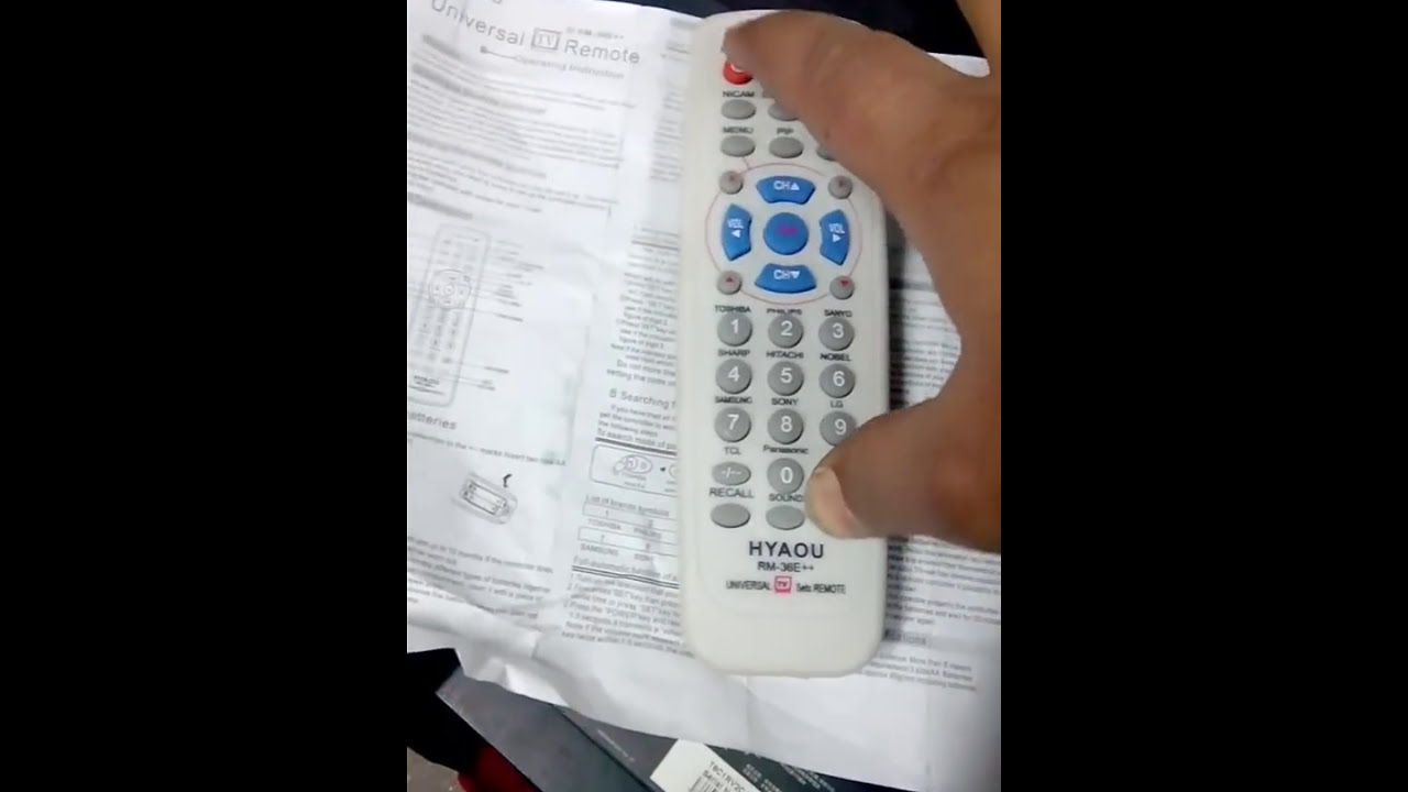 master remote setting for any brand crt tv by sushil sapkota