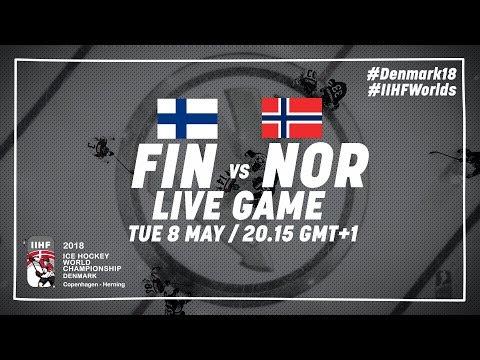 Finland - Norway   Live   2018 IIHF Ice Hockey World Championship
