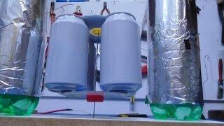 Motor Eletrostático com Rotor de Latinhas - Electrostatic Motor with Can of Soda