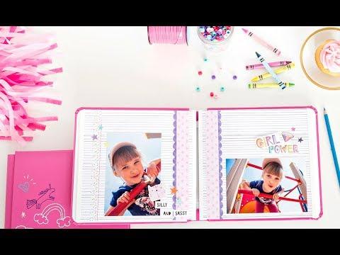 8x8 Fuchsia Super Duper Girl Fast2Fab™ Album | Creative Memories Australia