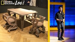 This Guy Is Making Furniture and Buildings out of Your Trash | Nat Geo Live