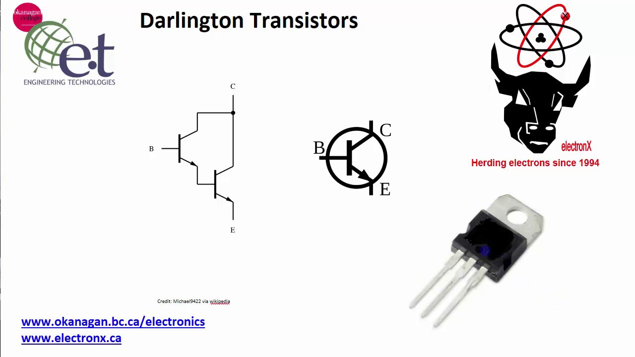 Darlington Transistors And Using Them As Switches Youtube Diagram B A Shows An Npn Transistor Which Is Often Used