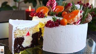 НОВОГОДНИЙ Торт СВЕЧА НА ВЕТРУ Cake CANDLE IN THE WIND