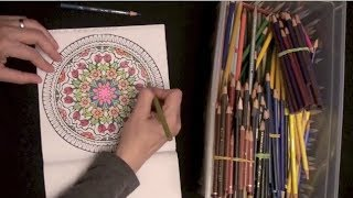 ASMR Coloring Book (ASMR trigger sounds, whispering, drawing sounds)