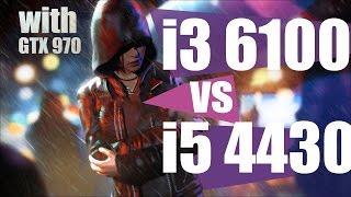 i3 6100 vs i5 4430 gtx 970 in 12 games