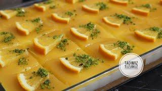 Denenme Rekoru Kıracak Portakal Soslu Pasta Tarifi Tam 24 Dilim ❤️Cake with Orange Tadımıztuzumuz