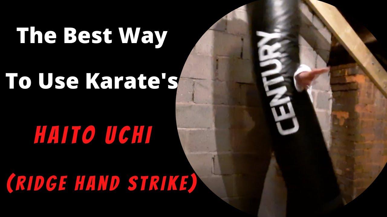 The Best Way To Use Karate's Haito Uchi - Ridge Hand Strike (Reverse Knife Hand Strike in Taekwondo)
