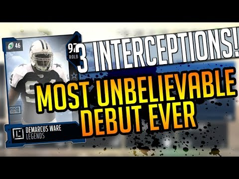 Madden 18 Ultimate Team-CRAZIEST DEBUT EVER!LEGEND D.Ware w/3 INTERCEPTIONS!-Madden 18 Ultimate Team