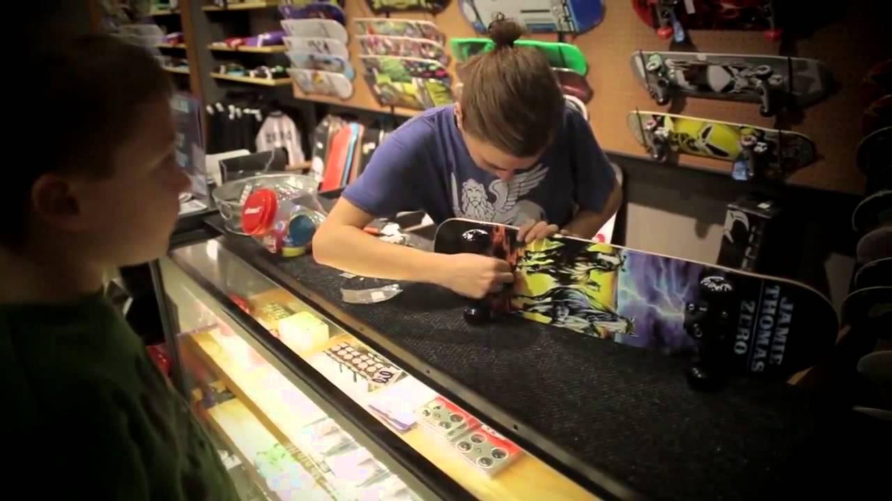 Skateboard Ryan's first skateboard from Zumiez!