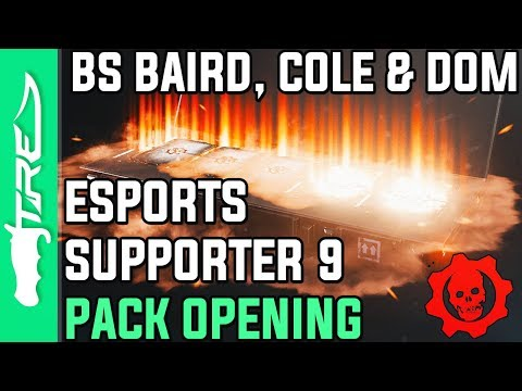 BLACK STEEL CLASSIC BAIRD, DOM AND COLE! - Gears of War 4 Gear Packs Opening - 10 ESPORTS 9 PACKS!