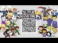 Sans, Papyrus, Frisk,  Flowey, and MORE! - Mii Fighter QR Codes for Smash Bros