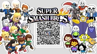 Sans, Papyrus, Frisk,  Flowey, and MORE! - Mii Fighter QR Codes for Smash Bros
