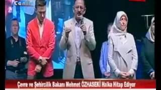Mustafa Ceceli Cumhuriyet Meydanı'nda (TV Kayseri)