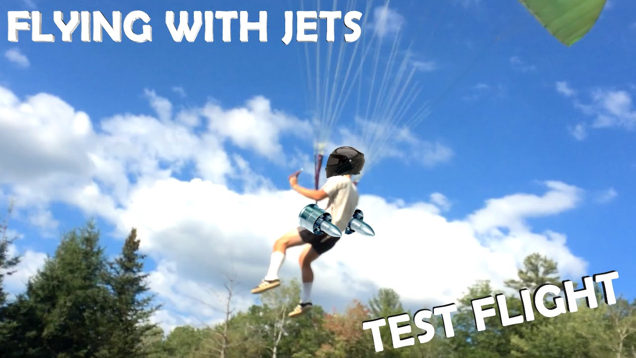 a18c6b469b7 Flying with Jet Engines! - TEST FLIGHT!!! (DIY Backpack Jet Aircraft Part  2) - YouTube