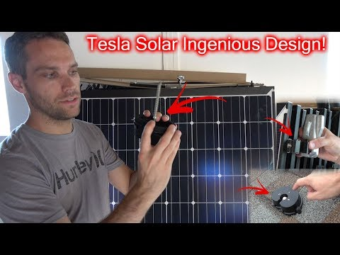 How Tesla Mounts Solar Panels On Your Roof!