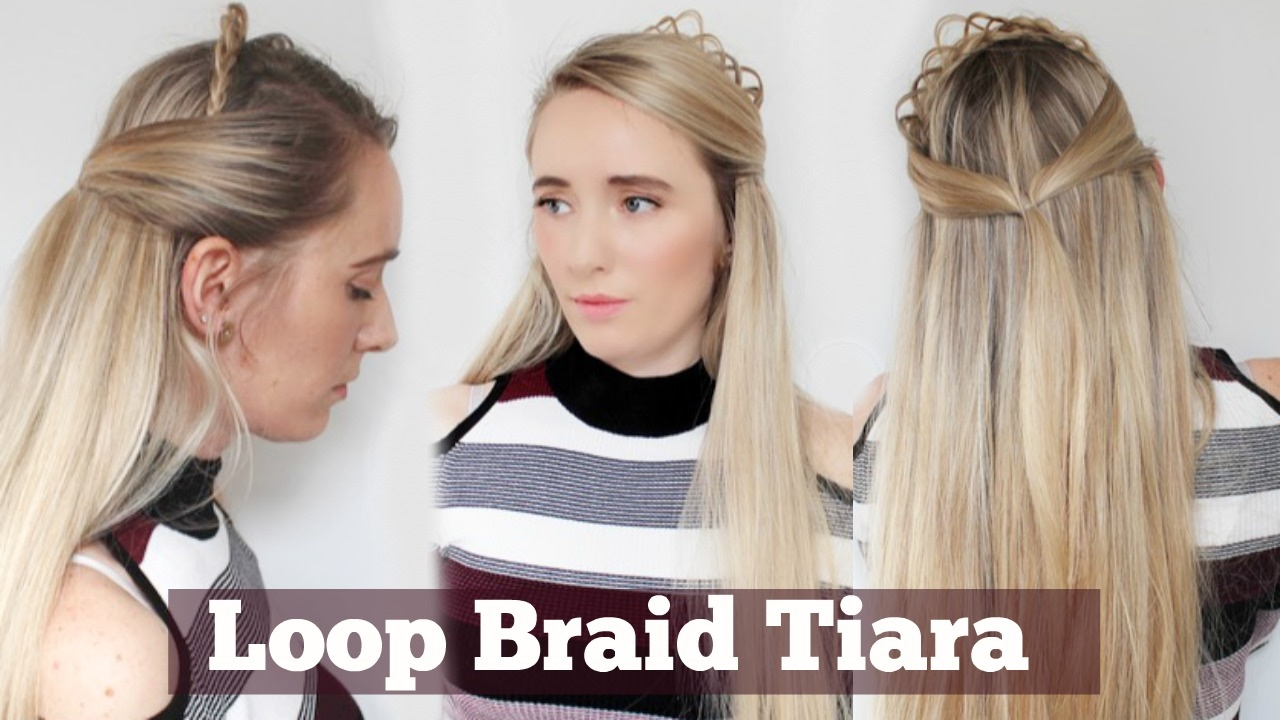 easy diy prom hairstyle   quick and easy   how to loop braid