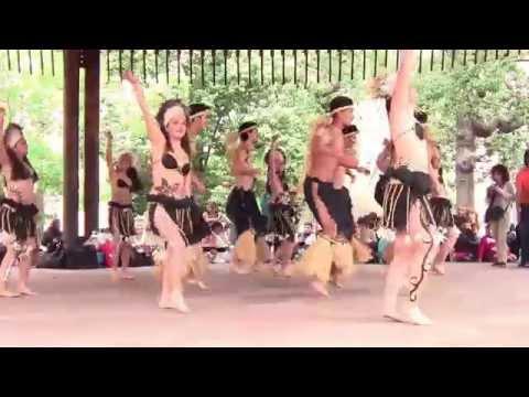 Rapa nui dance in Santiago, Chile