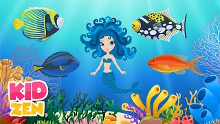 10 HOURS of Relaxing Music for Kids: Mermaid's Garden 🧜♀️ Lullaby for Babies to go to Sleep
