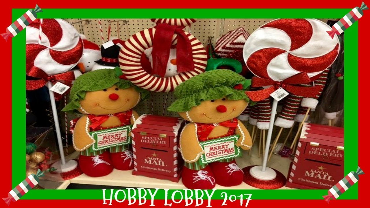 christmas decor shopping at hobby lobby pt4 2017