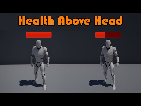 Show AI Health Above Head | Floating Widget | Improved - Unreal Engine 4 Tutorial