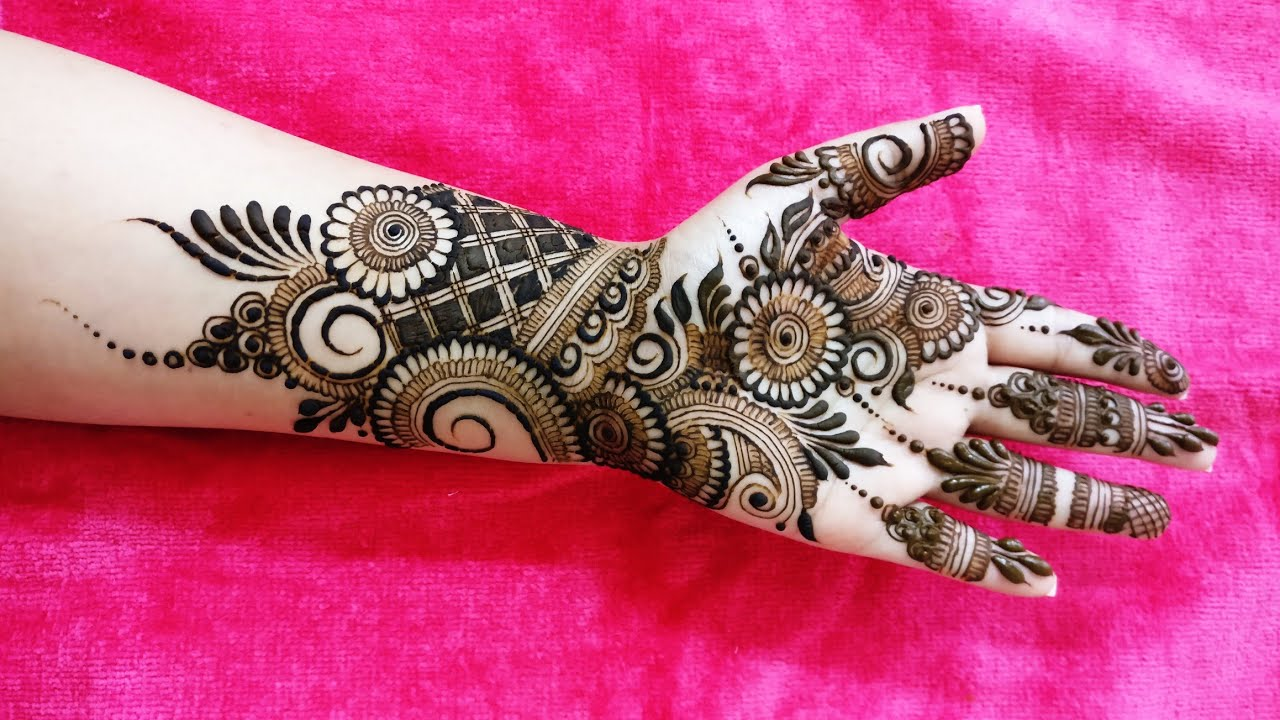 Indo-Arabic mehndi Design for Front Side 2018 #1