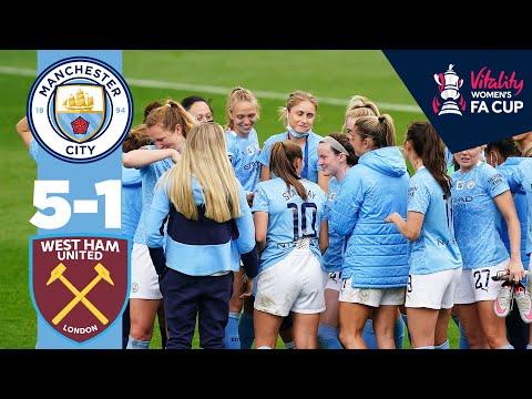 5 STAR CITY | Man City Women 5-1 West Ham | FA Cup 5th Round