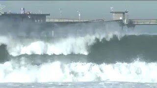 Huge waves from high surf cause Ocean Beach Pier to close