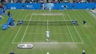 Eastbourne Final 2012 -  Andy Roddick vs Andreas Seppi  Highlights [HD]