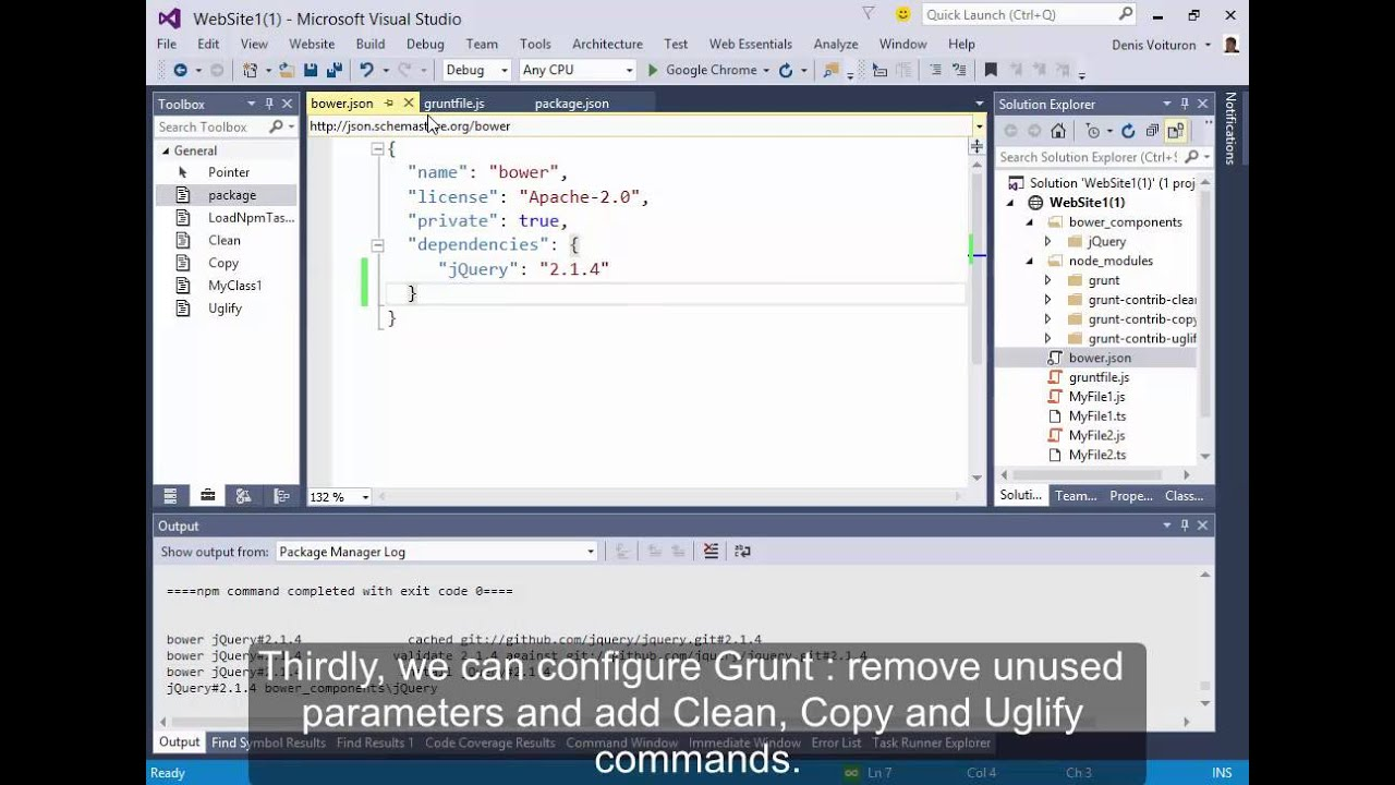 Bower And Grunt in Visual Studio 2015