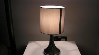 Homebase Chrome touch table lamp review