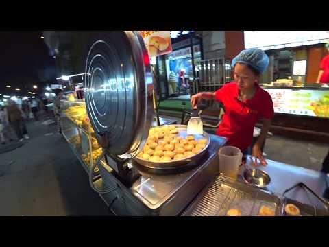 Уличная Еда на ночном рынке в Китае Street Food