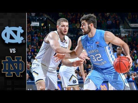 North Carolina vs. Notre Dame Basketball Highlights (2017-18)