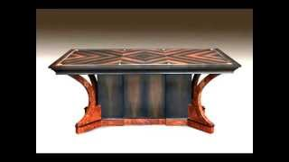 Joel Shepard - Dining Table In Bog Oak And Brown Oak Burr