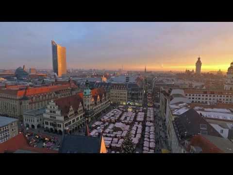 Leipzig aus der Luft im Winter
